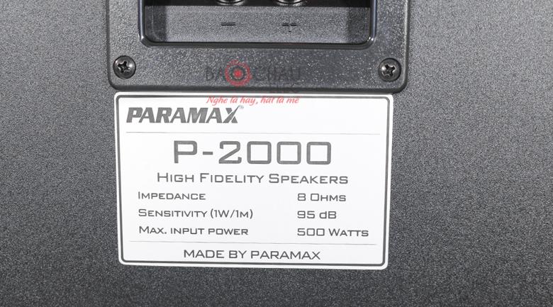 paramax p2000 5