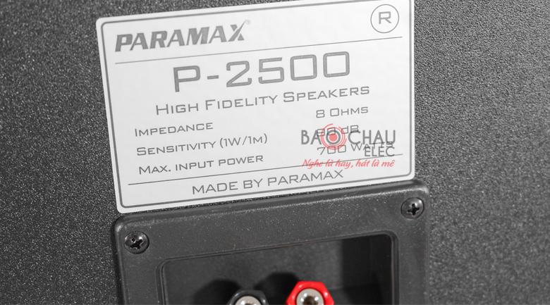 paramax p2500 7